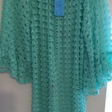 Mint green tunic or long blouse