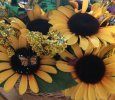 Sunflower Wall Hanging Basket