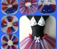 Patriotic Red, White, and Blue Tutu skirt