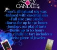 Soy candles with jewelry