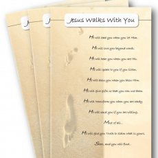 """Jesus Walks With You""-3-pack Greeting Cards (with envelopes)"