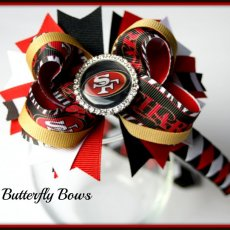 Sport NFL  medium boutique hair bow plus headband.  Choose your team