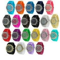 25 GENEVA SILICONE JELLY WATCHES NEW