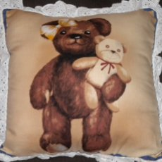 Teddy Bear Pillow/Girl holding stuffed bear