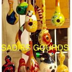 Various painted gourds