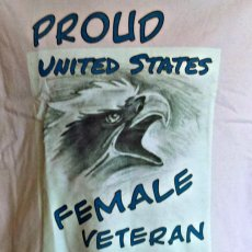 Proud Female Veteran, Unisex Cotton T-shirt