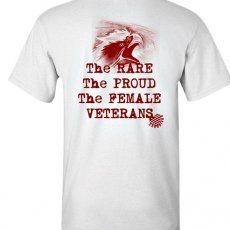 The Rare, The Proud, The Female Veterans, Unisex Cotton T-shirt