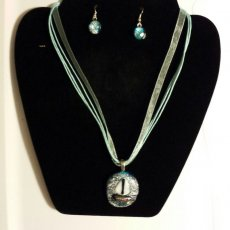 Sailboat Pendant and Earrings