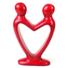 Handcrafted Soapstone Lover's Heart Sculpture