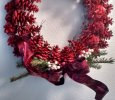 Red Pine cone wreath