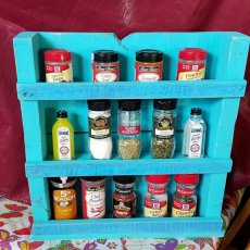 Turquoise Spice Rack