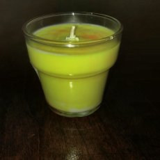 Custom Soy Candle in 5 oz Glass Flower Pot container