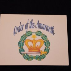 Order of the Amaranth note card