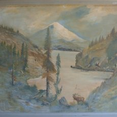 "Oil Painting by Tim Oleary,52""x58"" including frame"
