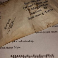 Customised Harry Potter acceptance letter set with real wax seal and with USPS dead letter