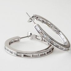 Channel Set Inside Out Eternity Hoops