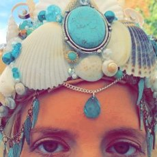 Mermaid Crown in Turquoise