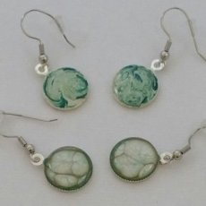 "Pebeo Painted 2"" Round Alloy Earrings"