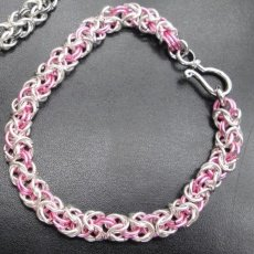 Byzantine Pink Chainmaille bracelet