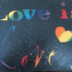 Love is love spray paint on canvas