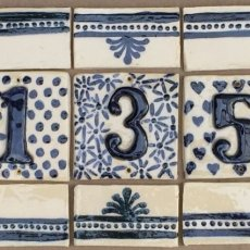 Handmade House Numbers, custom tile murals, backsplashes, architectural detail