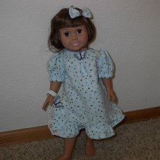 American Girl Doll Nightgown with blinders