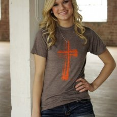 Orange Cross Tee