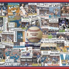 "Chicago Cubs 2016 World Series Newspaper Collage Print Art-16x20"" Print"
