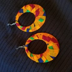Kente print earrings