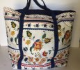 Large divided floral tote