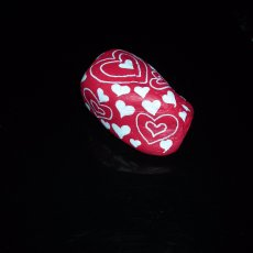 Hand Painted Stone Paperweight with Hearts and a Key