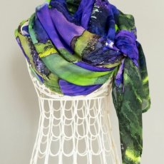 Purple Iris Scarf, Shawl