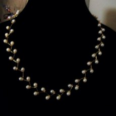 Pearl Branch Gold Necklace