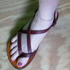 Custom Made 100% Leather Sandals ,Jesus, Hippy Style