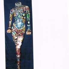 full size decoupage' mannequin with bling bling