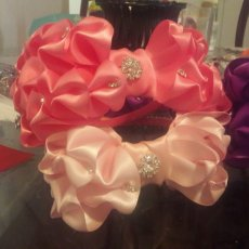 beautiful satin headband