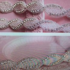 Wedding/Prom head band with silk tie