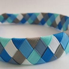 6 colors woven braid headband blue shadows