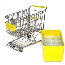 Yellow Dreamkeeper Minis Shopping Cart with Matching Insert and Divider