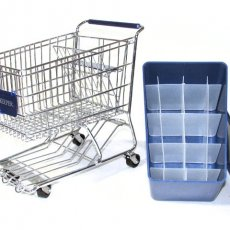 Blue Dreamkeeper Mini Shopping Cart with Matching Insert and Divider