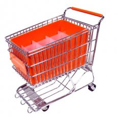 Orange Dreamkeeper Mini Shopping Cart with Matching Insert and Divider