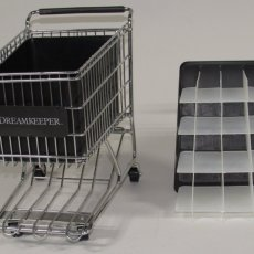 Black Dreamkeeper Mini Shopping Cart with Matching Insert and Divider