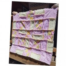 ABC Baby Girl Rag Quilt