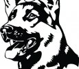 German Shepherd Outdoor Decal