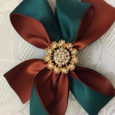 Christmas Satin Hair Clip