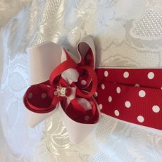 Christmas Dotted Ponytail Bow
