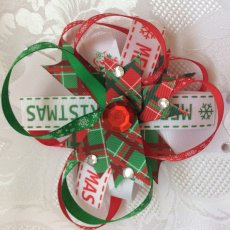 Christmas Giant Bow Hair Clip