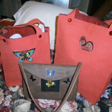 handcrafted leather totes
