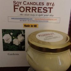 Gardenia Soy Candle in 10oz.Tureen Jar with cover