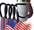Paracord Handle Red, White & Blue